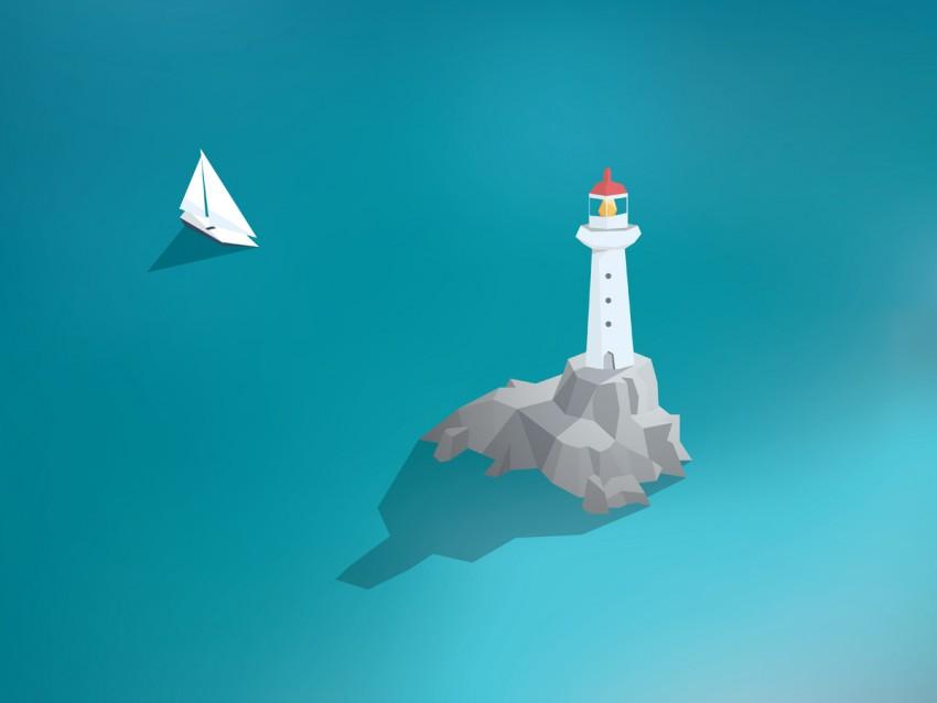 lighthouse in ocean